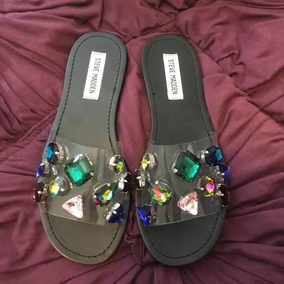 bc284fdb1d6d   Steve Madden   Jeweled Slide Rosalyn Sandals